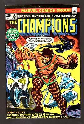 Champions 1 9.0 Vfnm 1975 Marvel Ghost Rider Hercules Black Widow Owp High Grade
