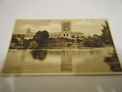 Abbey  Studio Card -  The South Side  Of  Tewkesbury  Abbey  -  Unused  Vgc