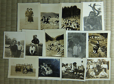 Antique Photo / Misc. Snapshots / Set of 13 / Japanese / c. 1930s-1950s