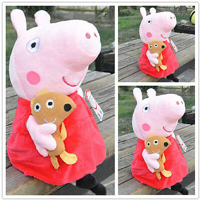 HOT Peppa Pig Stuffed Figures Toy Plush Doll 19CM/7.5inch Kids Lovely Gift UK