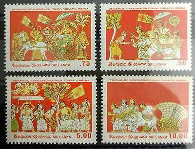 125.sri Lanka 1986 Set/4 Stamp . Mnh