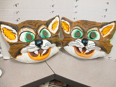 halloween mask 1970s CAT angry scary (1, not both)