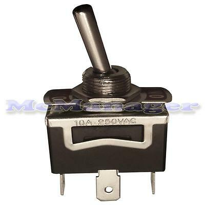 SPDT Toggle Switch With Metal Lever 6A/250V AC On-Off-On