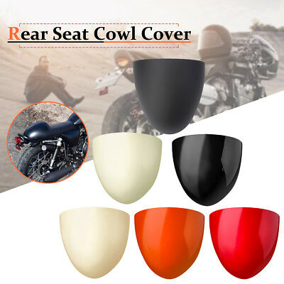 Universal Motorcycle Rear Seat Cowl Fairing Cover Cafe Racer Compartment Seat