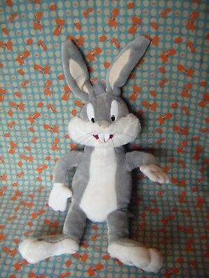 """BUGS BUNNY TALKING SOFT TOY 14"""" APPROX  Plush / Looney Tunes - Play By Play"""