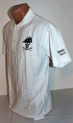 Captain Morgan White Rum Herren Man Men Polo Shirt klassisch weiß Gr. M NEU OVP