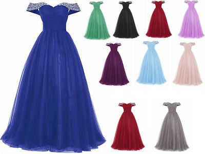 Hot Chiffon Long Bridesmaid Prom Dress Wedding Evening Formal Party Ball Gown