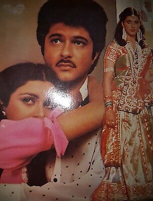 Poonam Dhillon Collection Bollywood press book Movie Laila 1984 Sunil Dutt