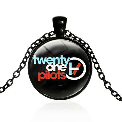 Twenty One Pilots Picture Glass Pendant Necklace Indie Pop Music Band Group