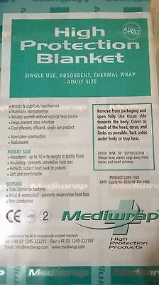Mediwrap High Protection adult size emergency blanket absorbent layer hi quality