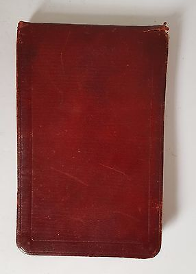 "Vintage Pocket Notebook Grid paper Maroon Soft Vinyl Cover 4"" x 6"""