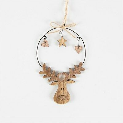 RUSTIC COPPER RUDOLPH HANGING DECORATION Sass & Belle Christmas Xmas Reindeer