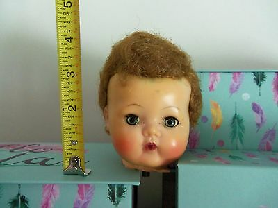 """Vintage High Color Tiny Tears Head See Tape Measure for 12-13"""" Doll"""