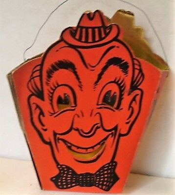 Vintage Halloween Light Up  Clown Candy Box 4 In Long  By 7 Hight 2 1/2  In Wide