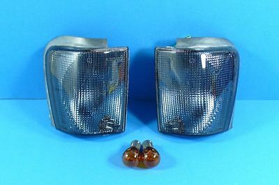 Black INDICATOR FRONT VW Scirocco 2 Type 53B 81-92 Set with standlichtfun