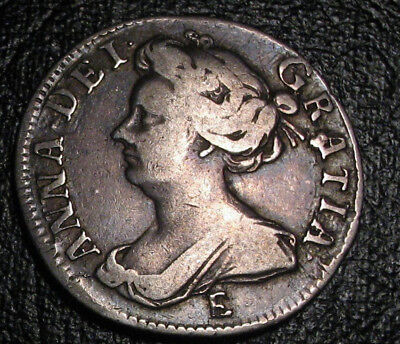 Old Colonial Coins Queen Anne Sterling Silver Sixpence 1708 E Great Britain Uk