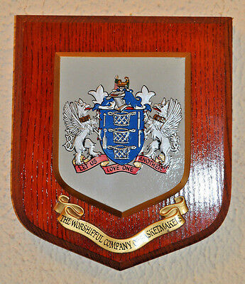 Worshipful Company of Basketmakers wall plaque shield crest coat of arms Livery
