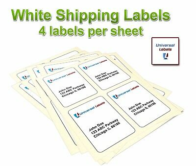 4 x 5 Labels, Blank Shipping or Wine Bottle labels, Premium USA Made Quality