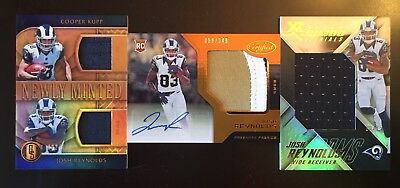 Josh Reynolds Rookie lot of three cards!!! Autograph auto and patches