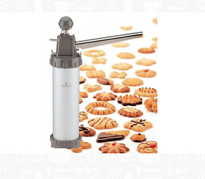 GSD Metal Biscuit Press 13 Disc cookie cutter gun Spray Spout pastry filler bake