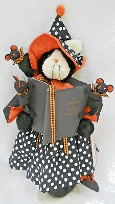 "16"" Dottie Dear Squeaketers Bunnies By The Bay Hallmark cat mice stand Halloween"