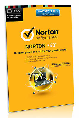 Norton 360 - All In One Protection - 3 PCs 1 Year Product Key / License Key