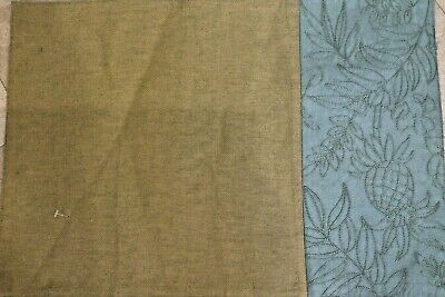 Tommy Bahama Placemats Pineapple Green Blue Embroidered (7)  Nwt
