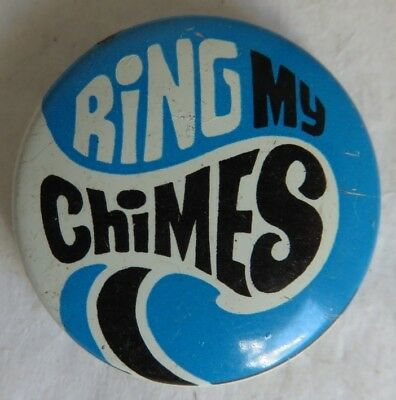 1969 George Schlatter Ring My Chimes Pin Pinback Button               (Inv14718)