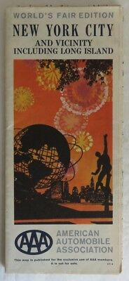 1965 Aaa New York And Vicinity World's Fair Edition Road Map        (Inv14738)