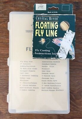 Lot Troutsmen Fly Tying Kit Assorted Materials ELK HAIR Feathers + Floating Line