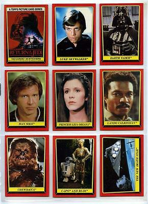 Star Wars Return of the Jedi Series 1 132 Card Set + 33 Stickers + Wrappers 1983