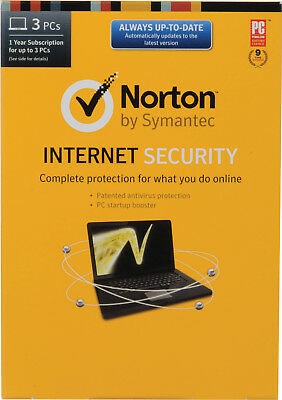 Norton Internet Security Antivirus - All In One 3 PCs 1 Year - License Key