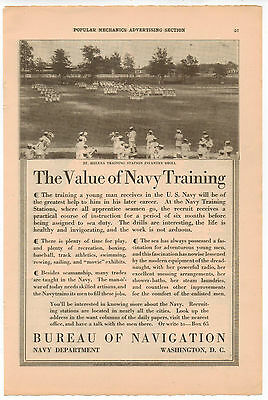 Vintage, Original, 1915 - United States Navy Advertisement - Recruiting