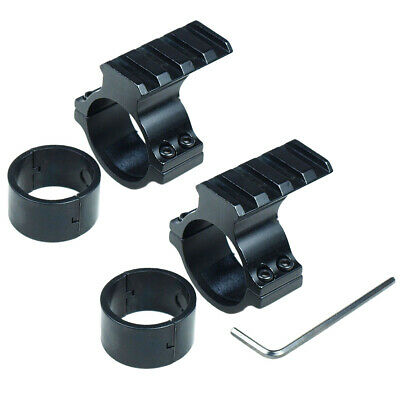 2X Barrel Mount 30mm 1'' Scope Ring Picatinny Rail Adapter For 12 Gauge Shot Gun