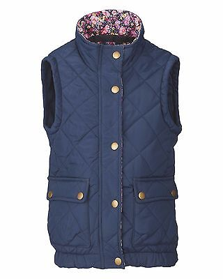 New * Crane Equestrian * Children's Navy Blue Classic Gilet * Age 7 - 8 Years *
