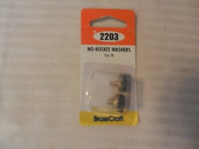 Package of 2 Brass Craft No Rotate Washers Size 00 #SC2203