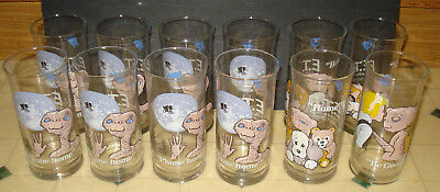 ~~RARE Vintage 12x Pizza Hut 1982 ET glasses LOT ~~Must See~~