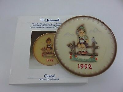 Hummel 1992 Annual Collector's Plate 22nd In Series With Box Made In Germany