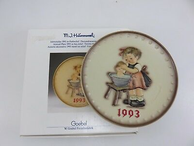Hummel 1993 Annual Collector's Plate 23rd In Series With Box Made In Germany