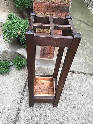 Antique Stickley Era Arts & Crafts Umbrella/Walking Stick Stand