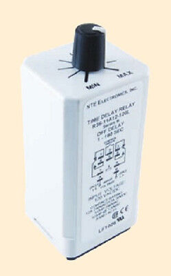 DPDT 120 VAC 12 Amp Adj Delay On Release Time Delay Relay - NTE R36-11A12-120L