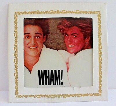 Carnival Mirror 80's Wham! George Michael Andrew Ridgeley 6x6 in. Gay Int. Vtg