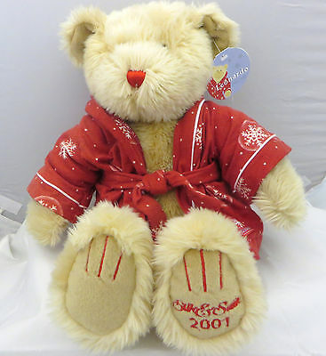 Silk & Satin Leonardo  2001 large Teddy Bear 15 inch