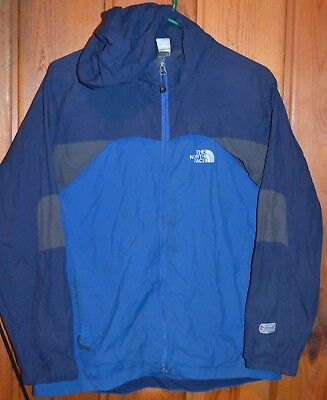The North Face Boys XL Hydrenalite Jacket Coat Zip Up Blue Gray