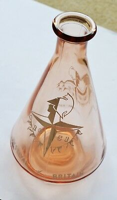 Small brown glass Festival of Britain (1951) decanter