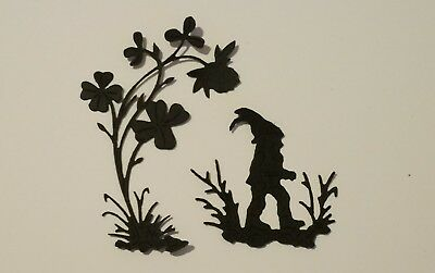tattered lace die cuts clover gnome