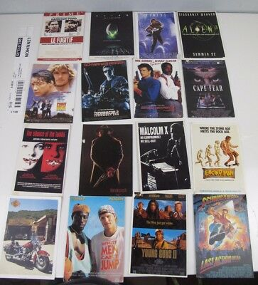 16 X  Movie Film And Other 1990s Postcards