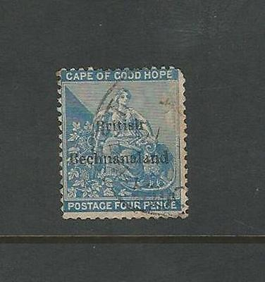 Bechuanaland: British Scott 1, used, corner up regular, wmk 1 . BE07