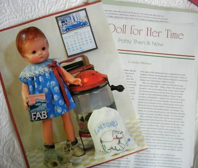 4 Uncut Doll Clothing Patterns to fit VTG Patsy Dolls + History - Then & Now