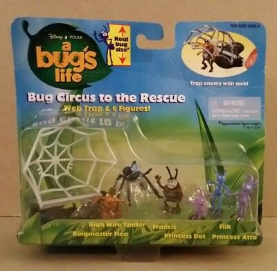 1998 Disney Pixar A Bugs Life Circus To The Rescue Real Bug Size Action Figures